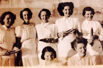 1951 procession Mill girls. Mum back row 2nd from right